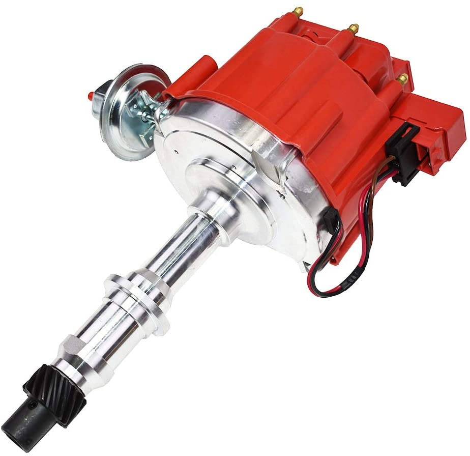 MOSTPLUS HEI Ignition Distributor 1040011 65K Coil Compatible with Pontiac 301ci 326ci 350ci 389ci 400ci 421ci 428ci 455ci V8 JM6504R PE326 One Wire