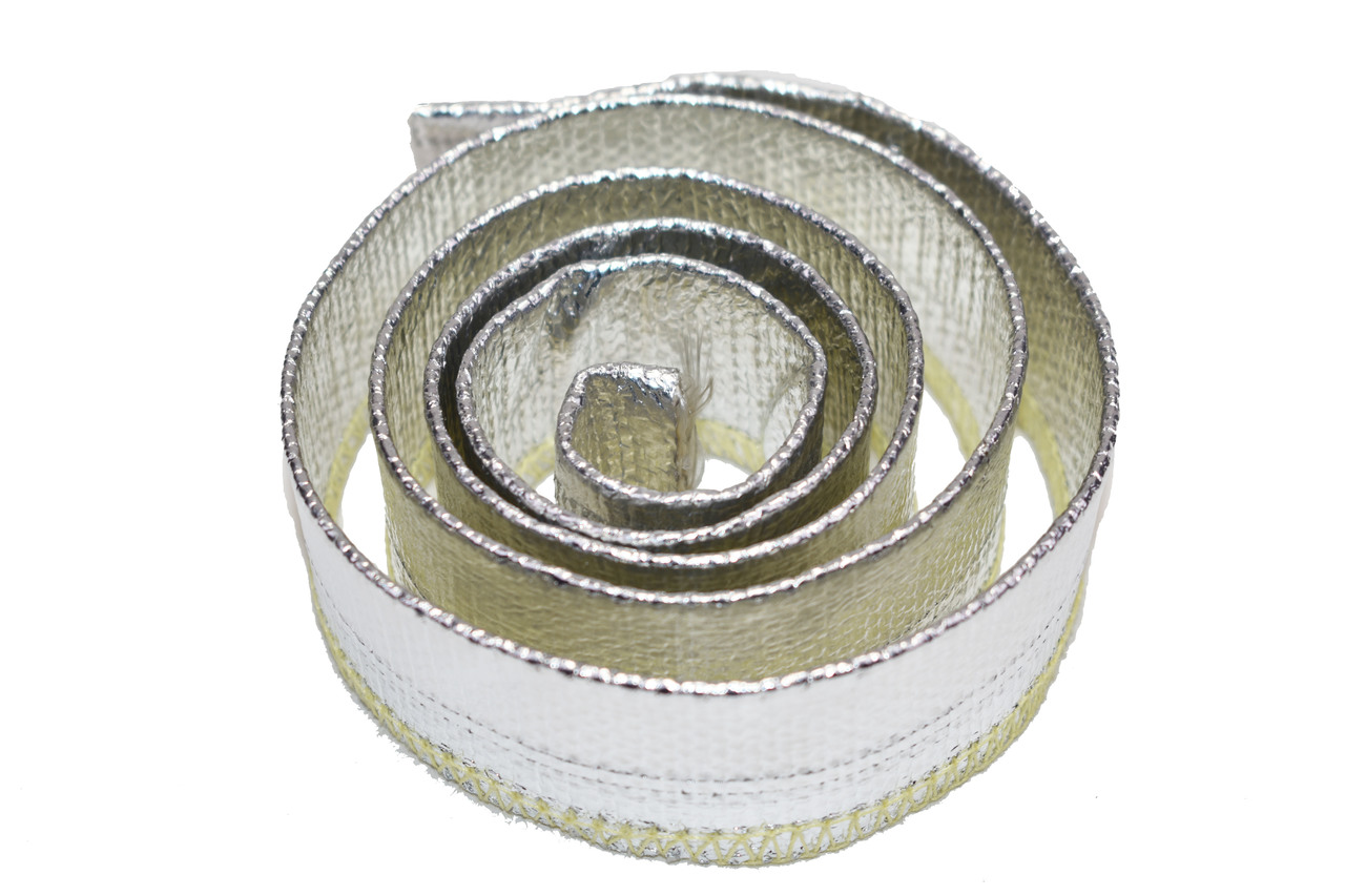 """A-Team Performance Heat Sheath Aluminized Sleeving for Ultimate Heat Shield Protection Barrier 1/2"""" x 36"""" (3ft)"""