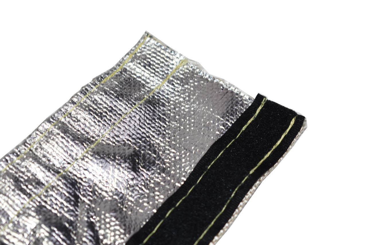 """A-Team Performance Heat Shroud Aluminized Sleeving for Ultimate Heat Shield Protection Barrier with Hook and Loop Closure 1/2""""x36"""" (3ft)"""