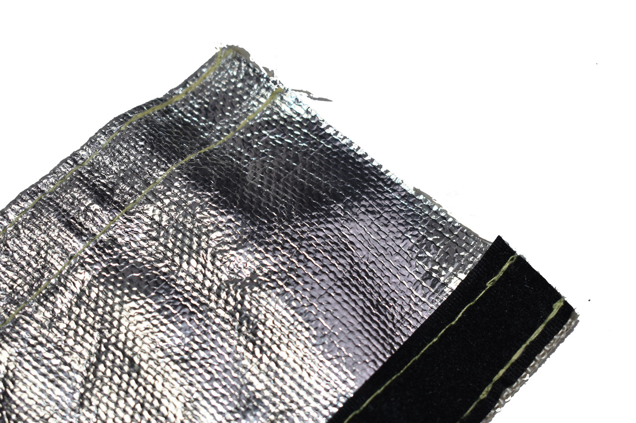 "A-Team Performance Heat Shroud Aluminized Sleeving for Ultimate Heat Shield Protection Barrier with Hook and Loop Closure 1"" x 36"" (3ft)"