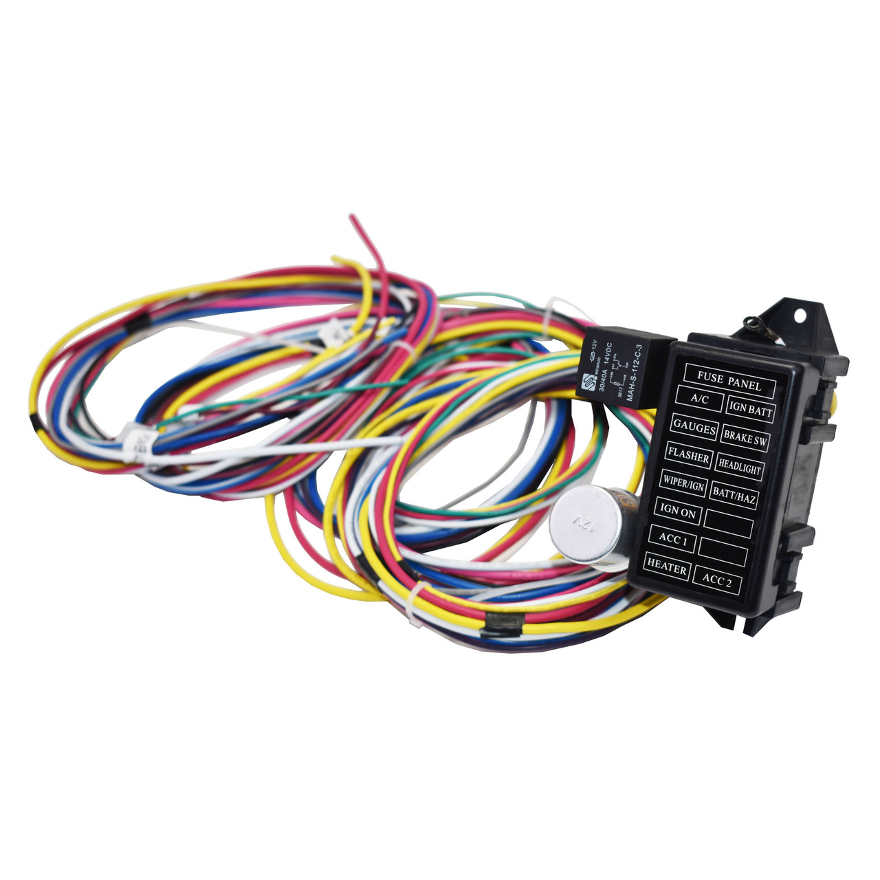A-Team Performance 12 Circuit Universal Wire Harness Muscle Car Hot Rod Street Rod Long Wires