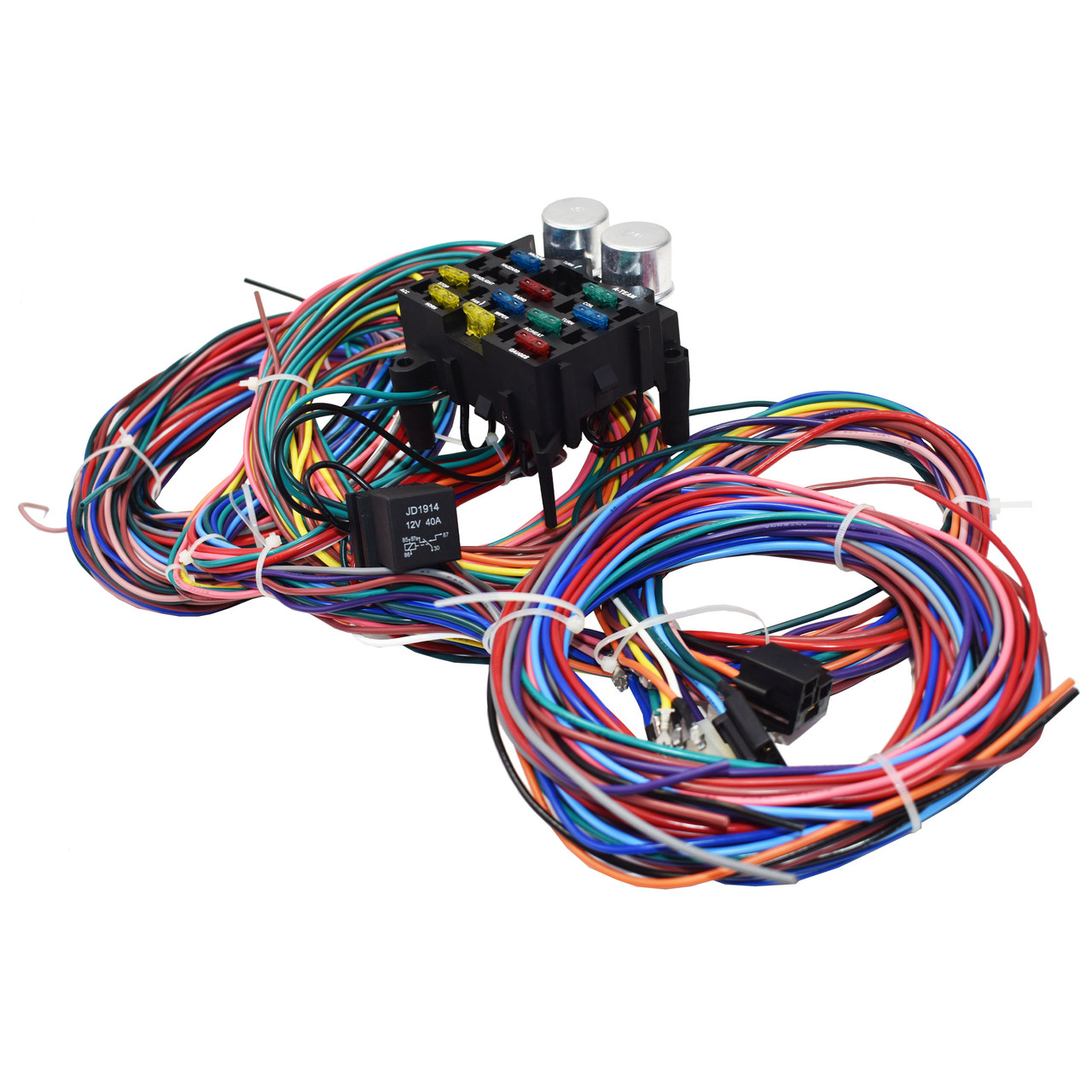 A-Team Performance 12-Circuit Standard Universal Wiring Harness Kit Muscle Car Hot Rod Street Rod XL Wire Cable