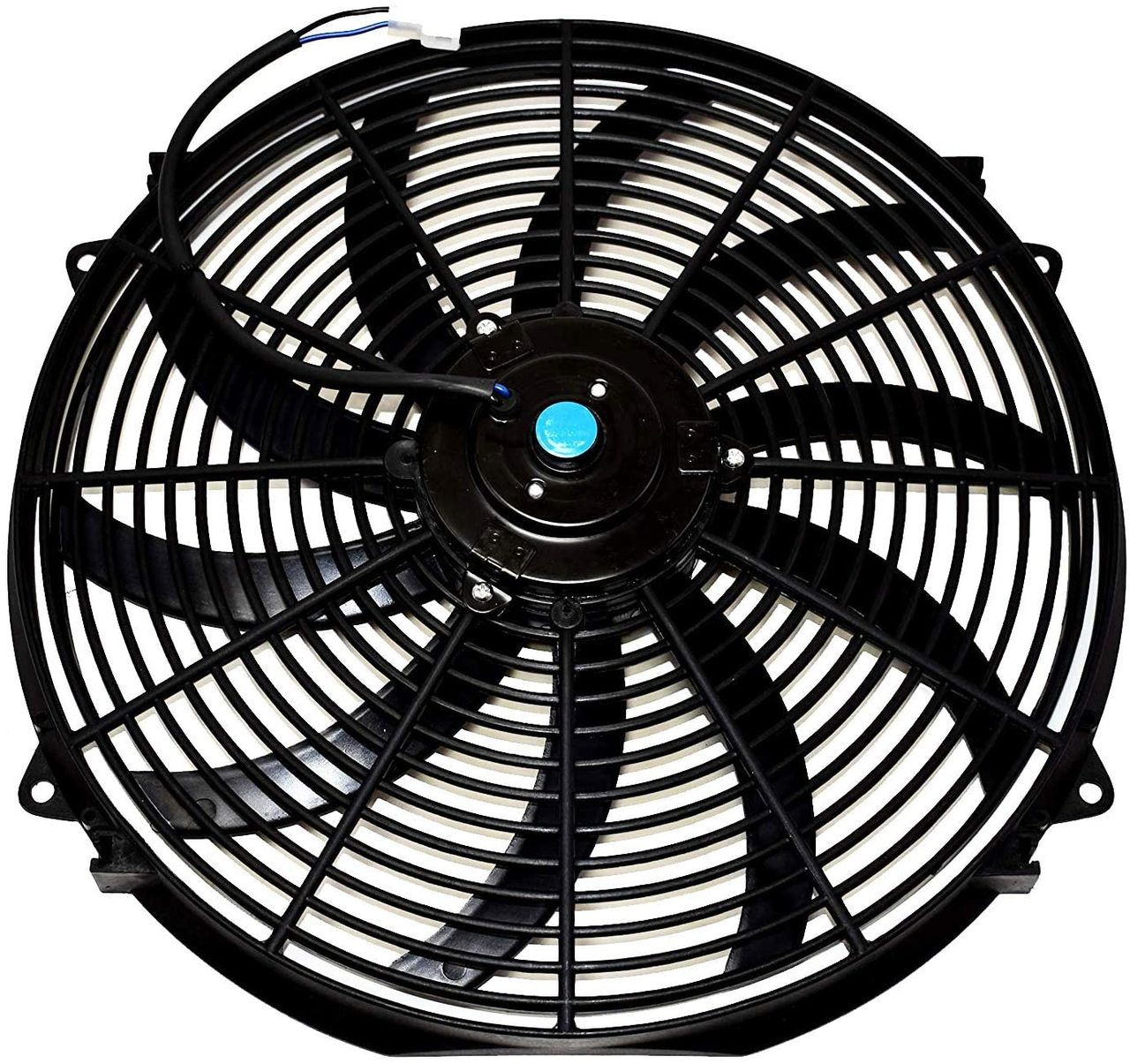"A-Team Performance 16"" Heavy Duty 12V Radiator Electric Wide Curved Blade FAN & RELAY"