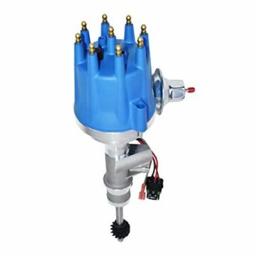 A-Team Performance Pro Series Ready to Run Distributor Male Blue Cap for 1955-1957 Ford Thunderbird Y-Block Tach Drive 272 292 312