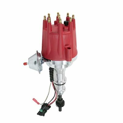 A-Team Performance Pro Series Ready to Run R2R Distributor for Ford SB Small Block 221 260 289 302 5.0L, V8 Engine Red Cap