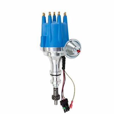 A-Team Performance Pro Series Ready to Run R2R Distributor for Ford 351W Windsor V8 Engine, Blue Cap