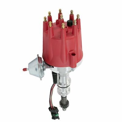 A-Team Performance Pro Series Ready to Run R2R Distributor for Ford 351W Windsor V8 Engine, Red Cap