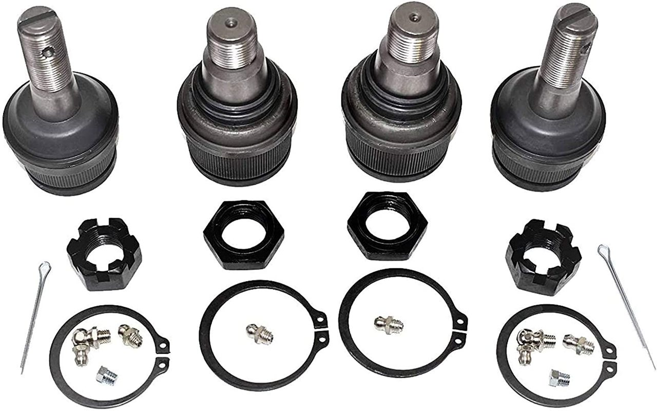 A-Team Performance Super Heavy Duty UPPER & LOWER BALL JOINTS XRF Compatible with Ford EXCURSION 4X4 F250 F350 99-06
