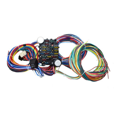A-Team Performance 21 Circuit Street Hot Rat Rod Custom Universal Color Wiring Harness Wire Kit XL WIRES