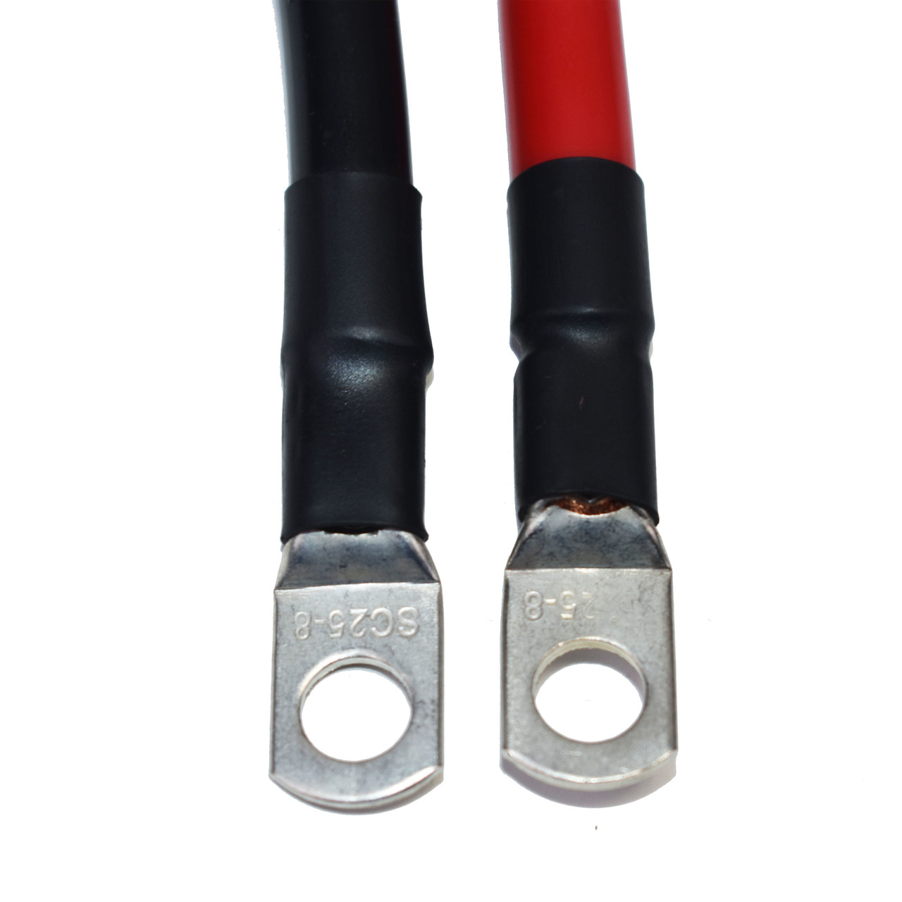 """A-Team Performance Spartan Power Battery Cable 2 Foot 4 Gauge AWG Wire Set 5/16"""" M8"""