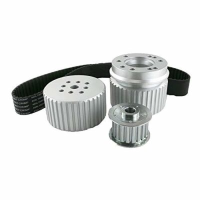 A-Team Performance 429-460 Gilmer Style Pulley Kit Compatible with Ford BB (SILVER)
