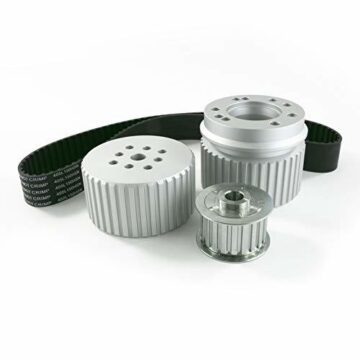 A-Team Performance Gilmer Style Pulley Kit Compatible with Chevy Big Block (SILVER)