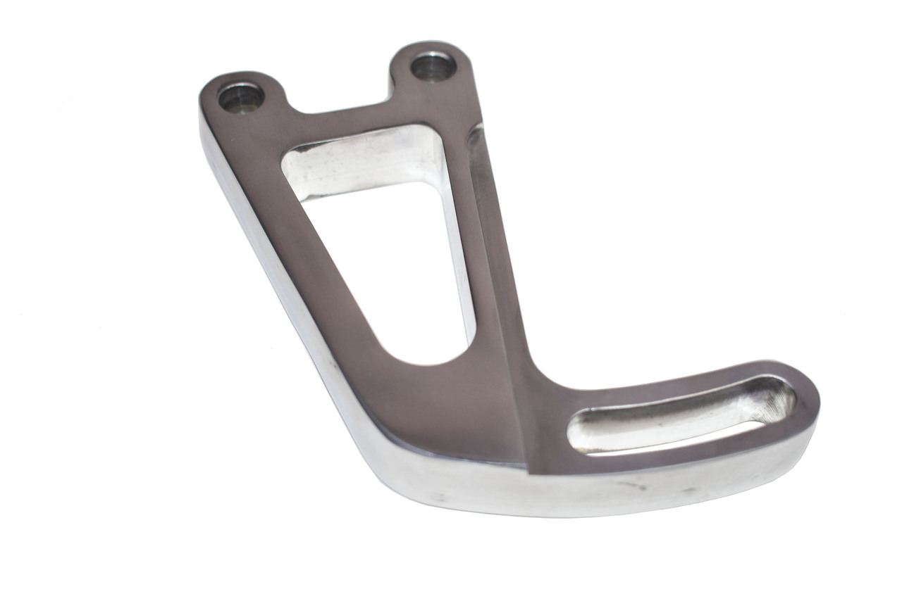 A-Team Performance Power Steering Bracket Set For 1963-87 Chevrolet SBC Small Block Chevy Long Water Pump - Polished Aluminum 14-Piece Kit
