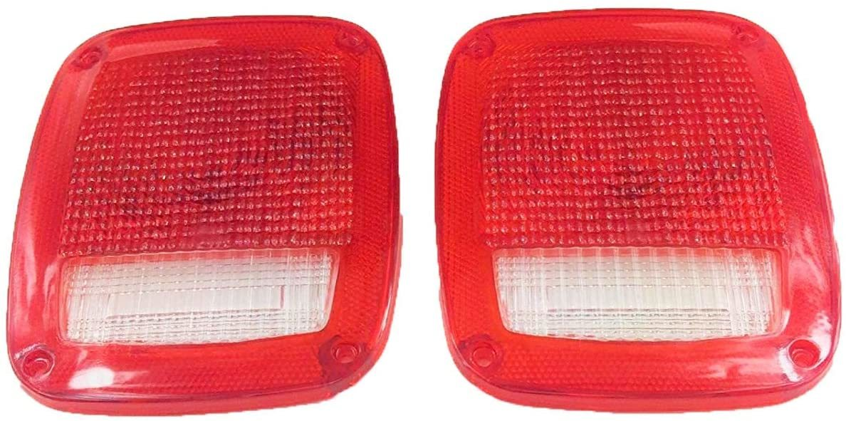 A-Team Performance Acrylic Jeep Wrangler CJ 76-86 TJ YJ Rear Tail Light Lens Set