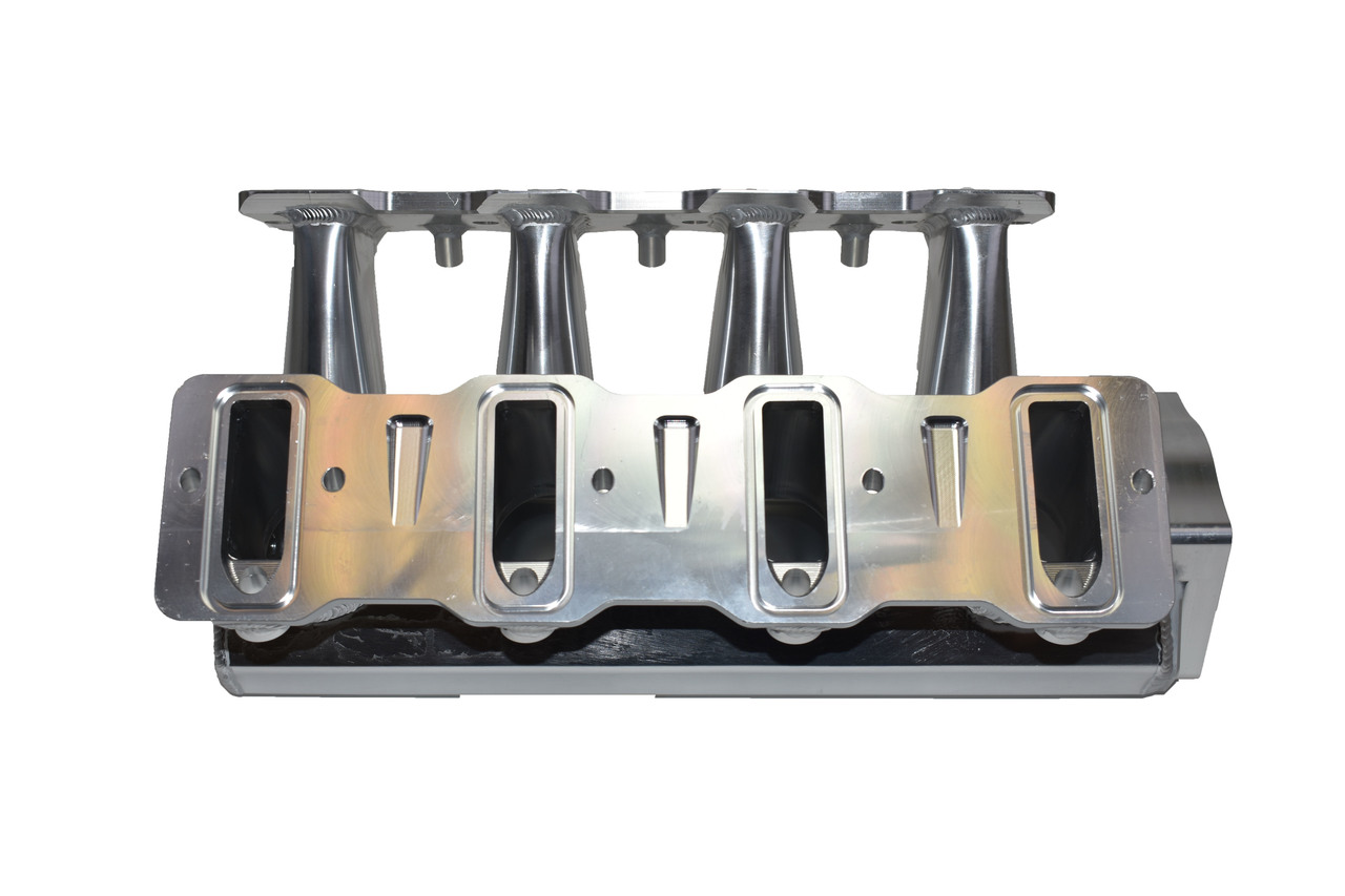 A-Team Performance LS LSX Tall Fabricated Intake Manifold LS LS1 LS2 LS6 EFI 0° Throttle Opening (SILVER - INTAKE ONLY)