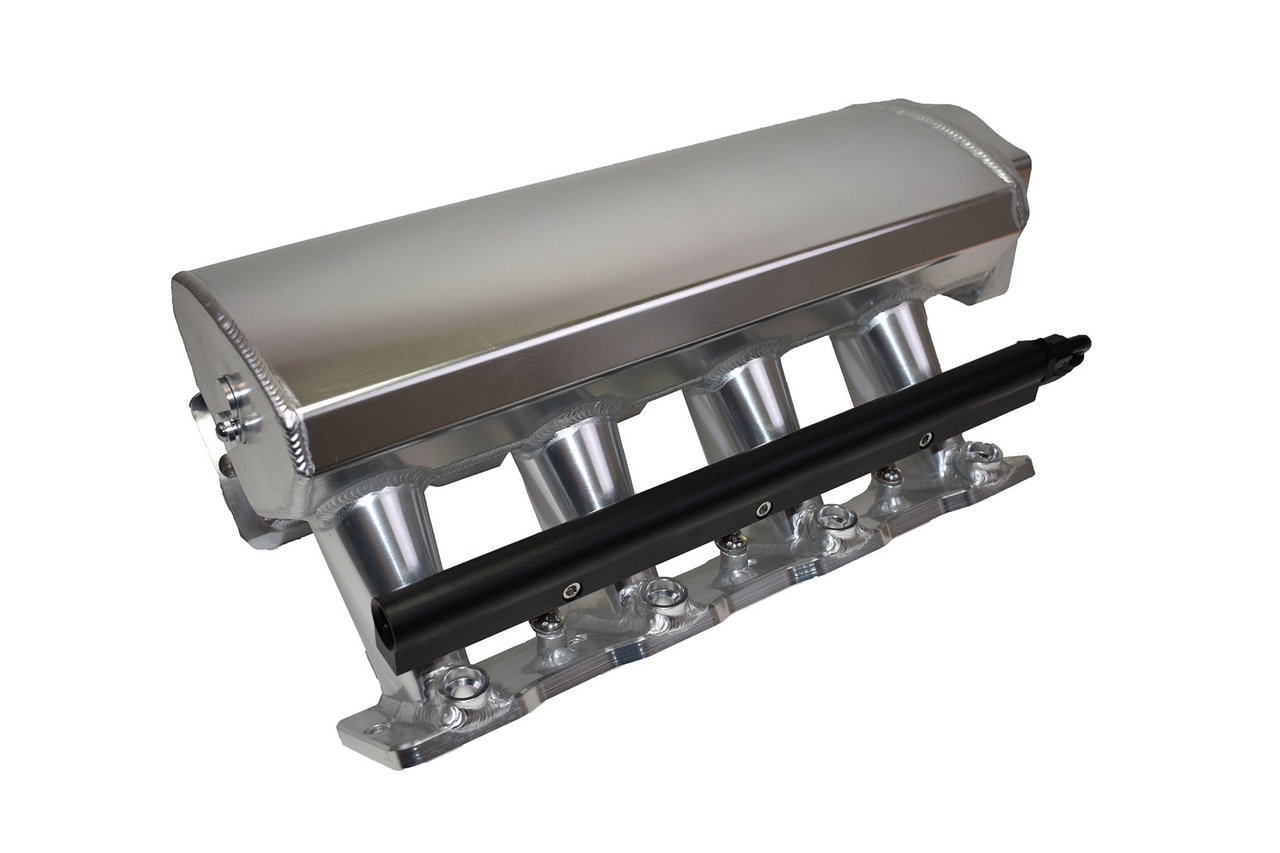 A-Team Performance Fabricated Intake Manifold Compatible with LS LSX Tall LS LS1 LS2 LS6 EFI 0° Throttle Opening (SILVER)