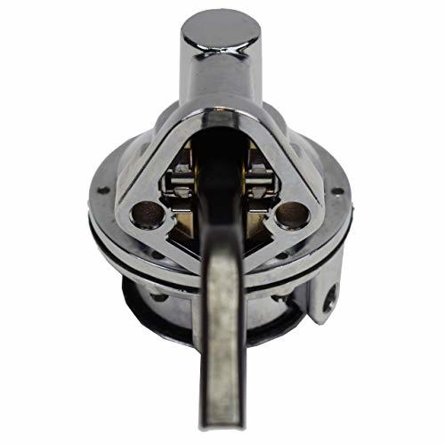 A-Team Performance Two Valve Mechanical Fuel Pump for SB Small Block Ford 221 260 289 302 351 Chrome