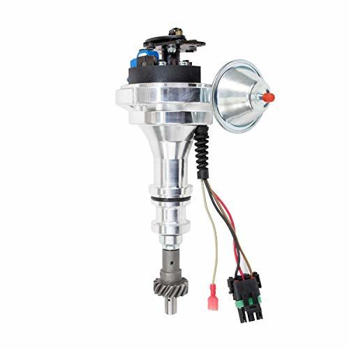 A-Team Performance Pro Series Ready to Run R2R Distributor for Ford 351C 351M 400M 370 429 460 BBF, V8 Engine, Blue Cap