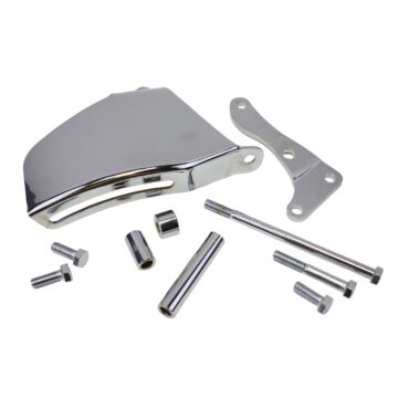 A-Team Performance 1969-1975 Alternator Steel Bracket Long Water Pump Compatible with SBC Small Block Chevy 262 283 350 400 CHROME