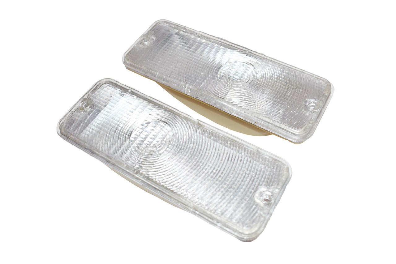 A-Team Performance Front Turn Signal Lights For 73 74 75 76 77 Ford F-150 F150 F250 F350 Truck, Clear