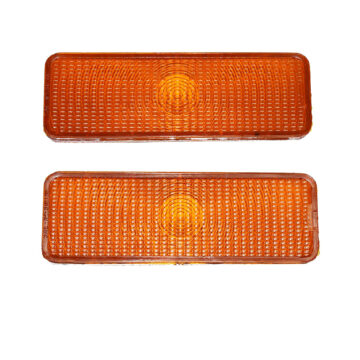 A-Team Performance 2 Front Parking Turn Signal Light Lens For F150 F250 F350 80-86 Ford Truck Bronco, Amber