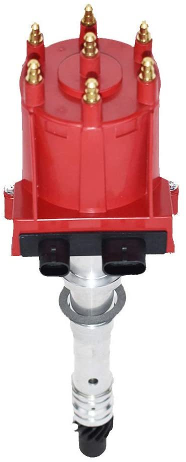 A-Team Performance EST Marine Electronic Ignition Distributor EFI Compatible with Mercruiser Chevy Volvo Penta OMC Indmar 807964A1 V6 4.3L Red Cap