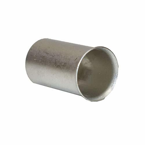 """A-Team Performance 2/0 Gauge (Ga.) Ferrules Fittings Non-Insulated Tubes Compression Sleeve Wire for Terminal Blocks and Under Set Screws 0.98"""" Pin Lg. (Pack of 10)"""