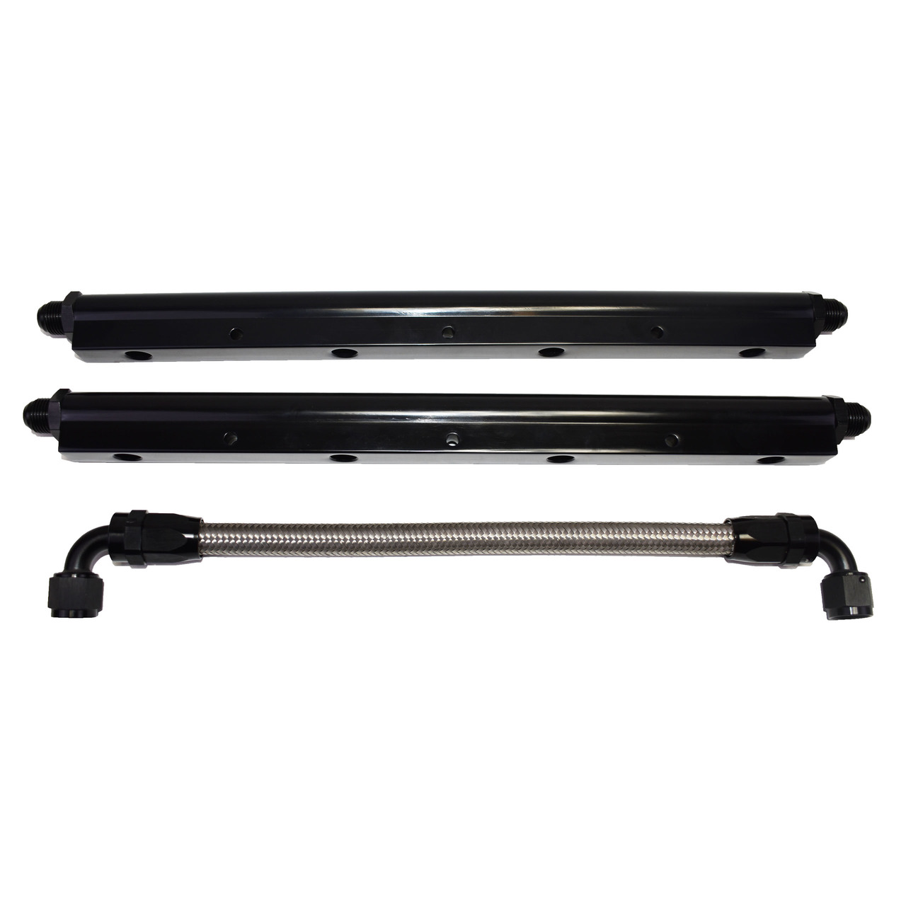 A-Team Performance 81008BK Black Fuel Rail with Middle Pipe