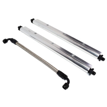 A-Team Performance Billet Aluminum Fuel Rail Kit with Middle Pipe for LS1 LS2 LS6 Clear Anodized