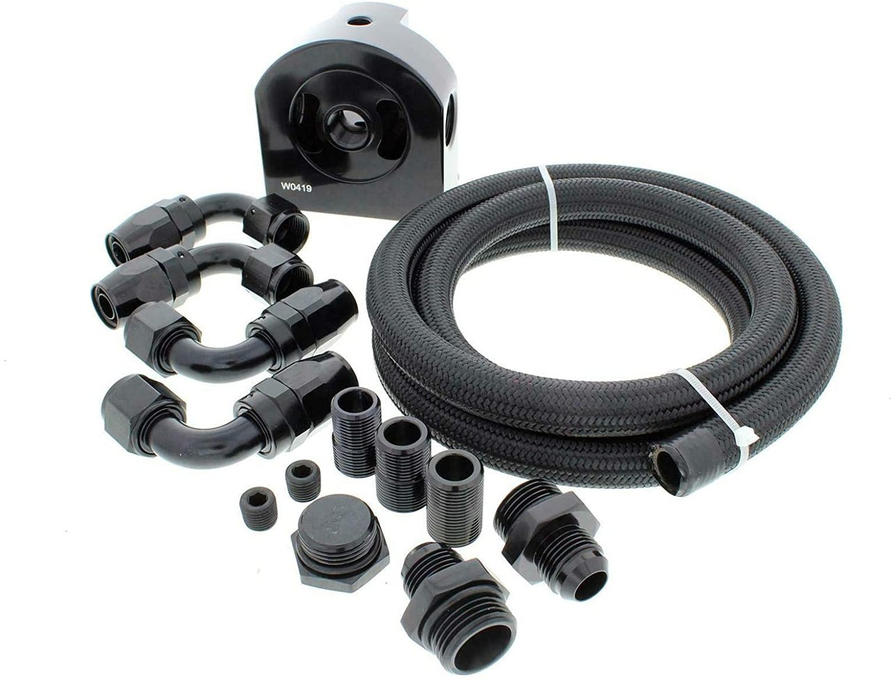 A-Team Performance Oil Filter Relocation Kit Compatible with GM LS LSX LS1 LS3 4.8 5.3 5.7 6.0