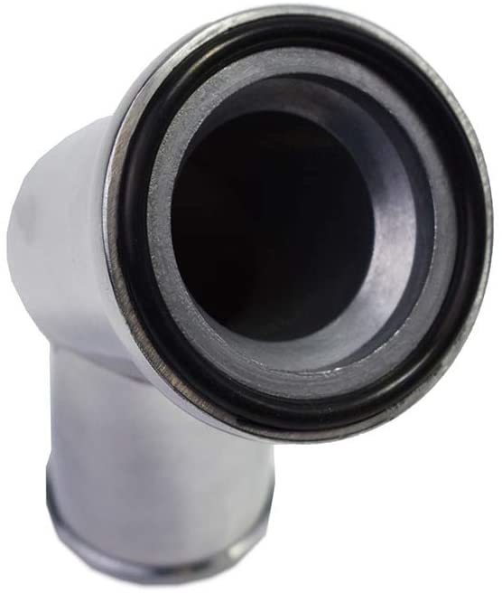 A-Team Performance SBC BBC CHEVY 45 SWIVEL POLISHED WATER NECK THERMOSTAT HOUSING 327 350 396 454