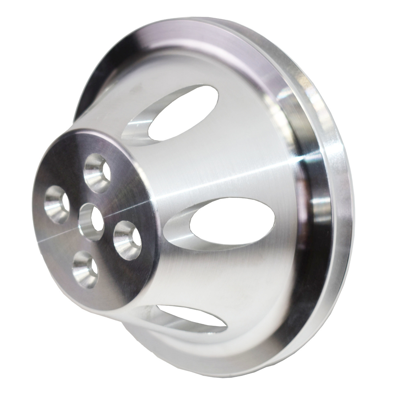 A-Team Performance Chevy Small Block Single-Groove Aluminum Short Water Pump Pulley
