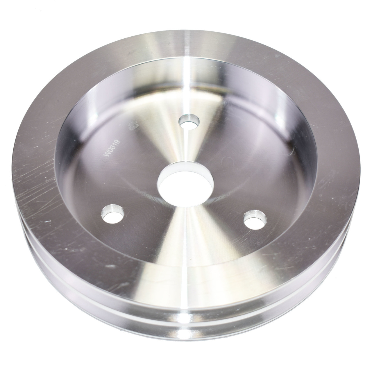 A-Team Performance CHEVY SMALL BLOCK SHORT WATER PUMP DOUBLE-GROOVE ALUMINUM CRANKSHAFT PULLEY