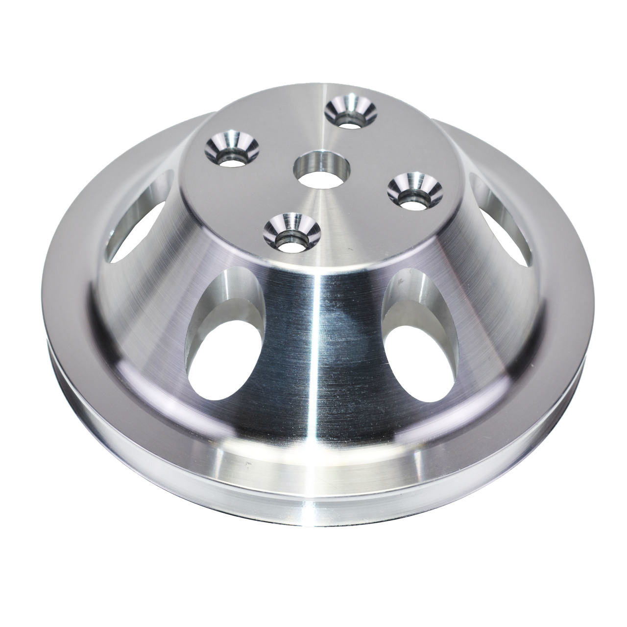 A-Team Performance CHEVY SMALL BLOCK SINGLE-GROOVE ALUMINUM LONG WATER PUMP PULLEY