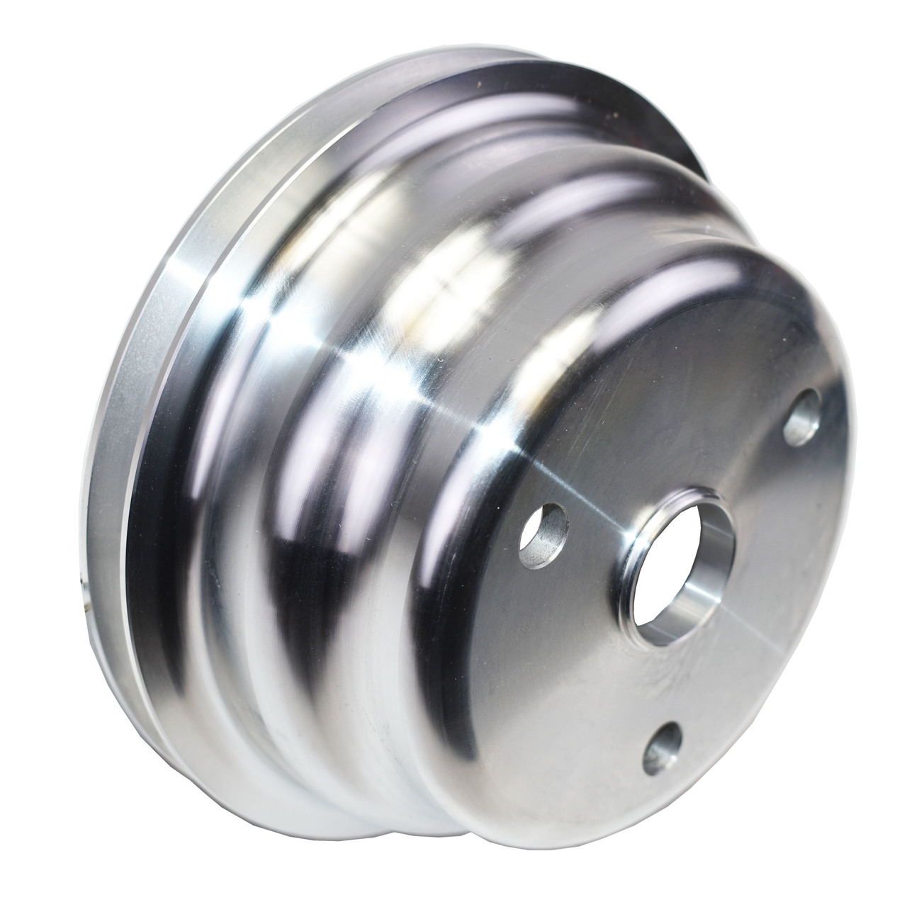 A-Team Performance CHEVY SMALL BLOCK LONG WATER PUMP SINGLE-GROOVE ALUMINUM CRANKSHAFT PULLEY