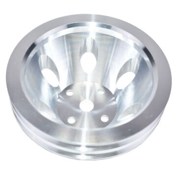 A-Team Performance CHEVY SMALL BLOCK DOUBLE-GROOVE ALUMINUM LONG WATER PUMP PULLEY