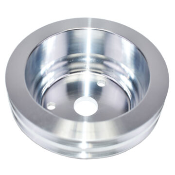 A-Team Performance CHEVY SMALL BLOCK LONG WATER PUMP DOUBLE-GROOVE ALUMINUM CRANKSHAFT PULLEY