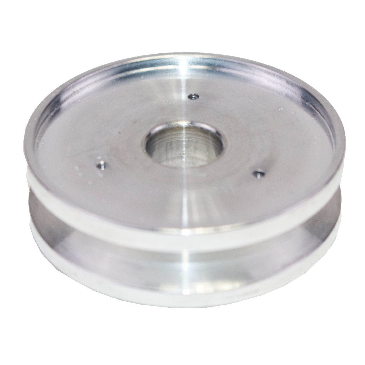 A-Team Performance GM SBC SINGLE-GROOVE ALUMINUM ALTERNATOR PULLEY WITH NOSE CONE COVER 283 350 400