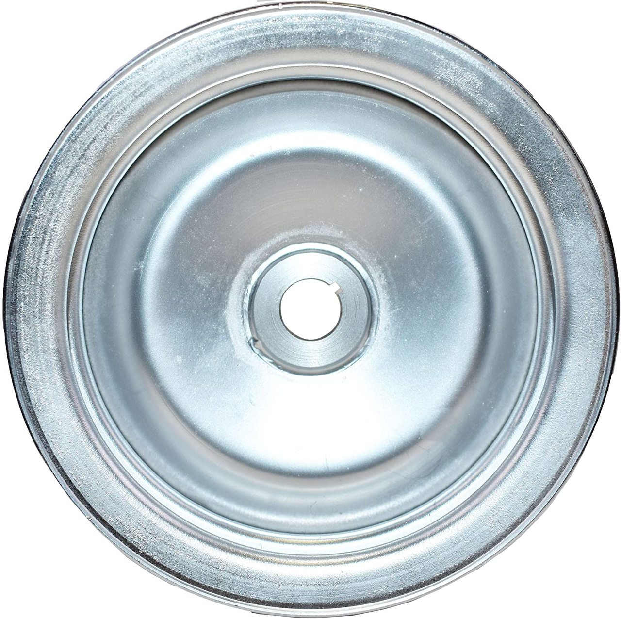 A-Team Performance Saginaw Power Steering Pump Double-Groove Steel Pulley Compatible With GM (Chrome)