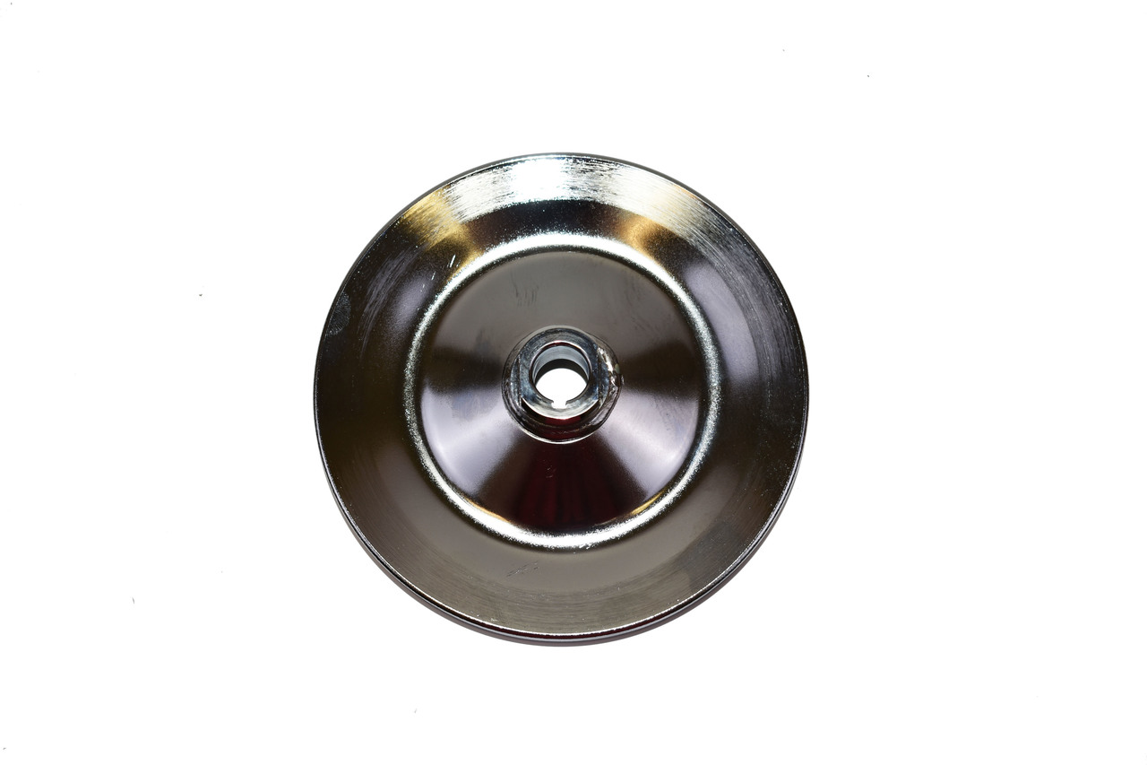 A-Team Performance 1955-72 Chevy/GM Chrome Steel Key-Way Power Steering Pump Pulley - 1 Groove