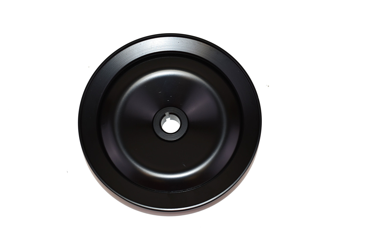 A-Team Performance Steel Key-Way Power Steering Pump Pulley Compatible with 1955-72 Chevy/GM Black- 1 Groove