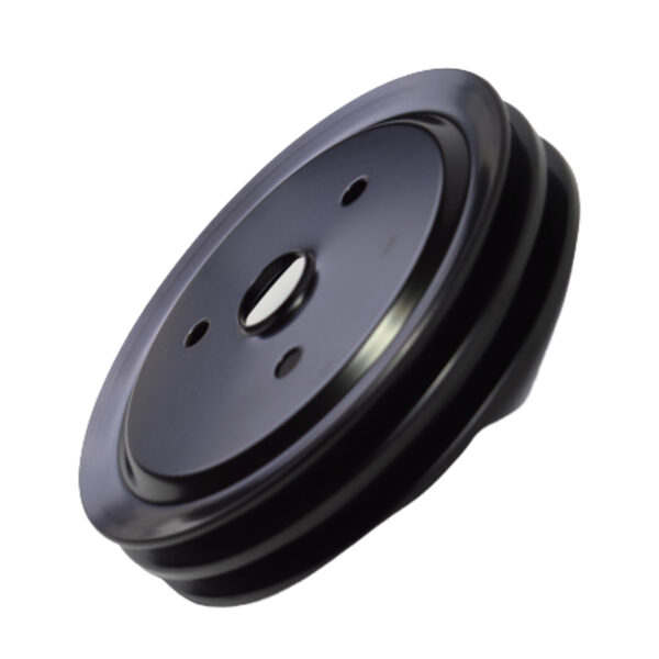 A-Team Performance Crankshaft Pulley Double-Groove SWP Short Water Pump Compatible with Small Block Chevy SBC 262 265 267 283 302 305 307 327 350 400 Black Steel