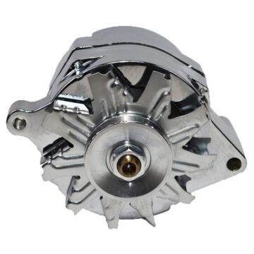 A-Team Performance 1G Style Chrome 1-Wire 110 Amp 10si Conversion Alternator 1 Groove V-belt V6 & V8 Compatible with 1965-89 Ford