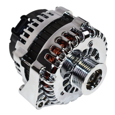 A-Team Performance GM AD244 Style High Output 220 Amp Alternator Chrome
