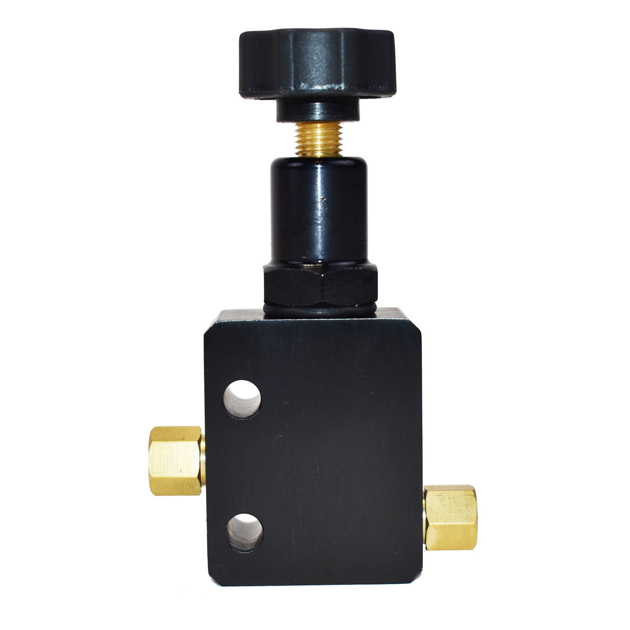 A-Team Performance Adjustable Proportioning Valve for Universal Hot Rods, 3/8-24 Fittings 3/16 Line