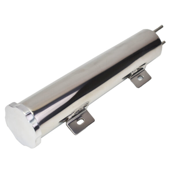 """A-Team Performance 2"""" X 10"""" Polished Stainless Steel 14 OZ Radiator Coolant Over Flow Puke Tank Can"""
