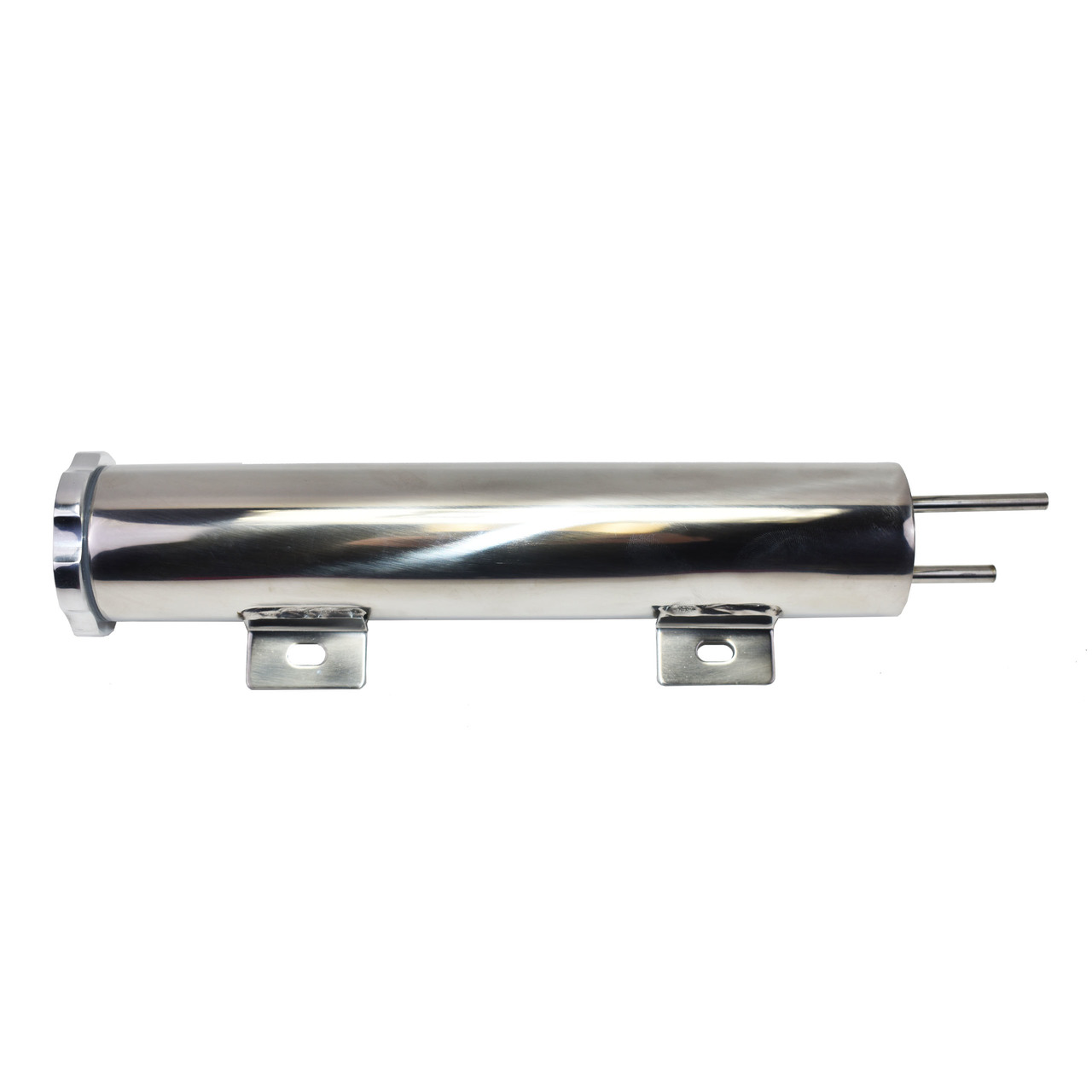 "A-Team Performance 2"" X 10"" Polished Stainless Steel 14 OZ Radiator Coolant Over Flow Puke Tank Can"
