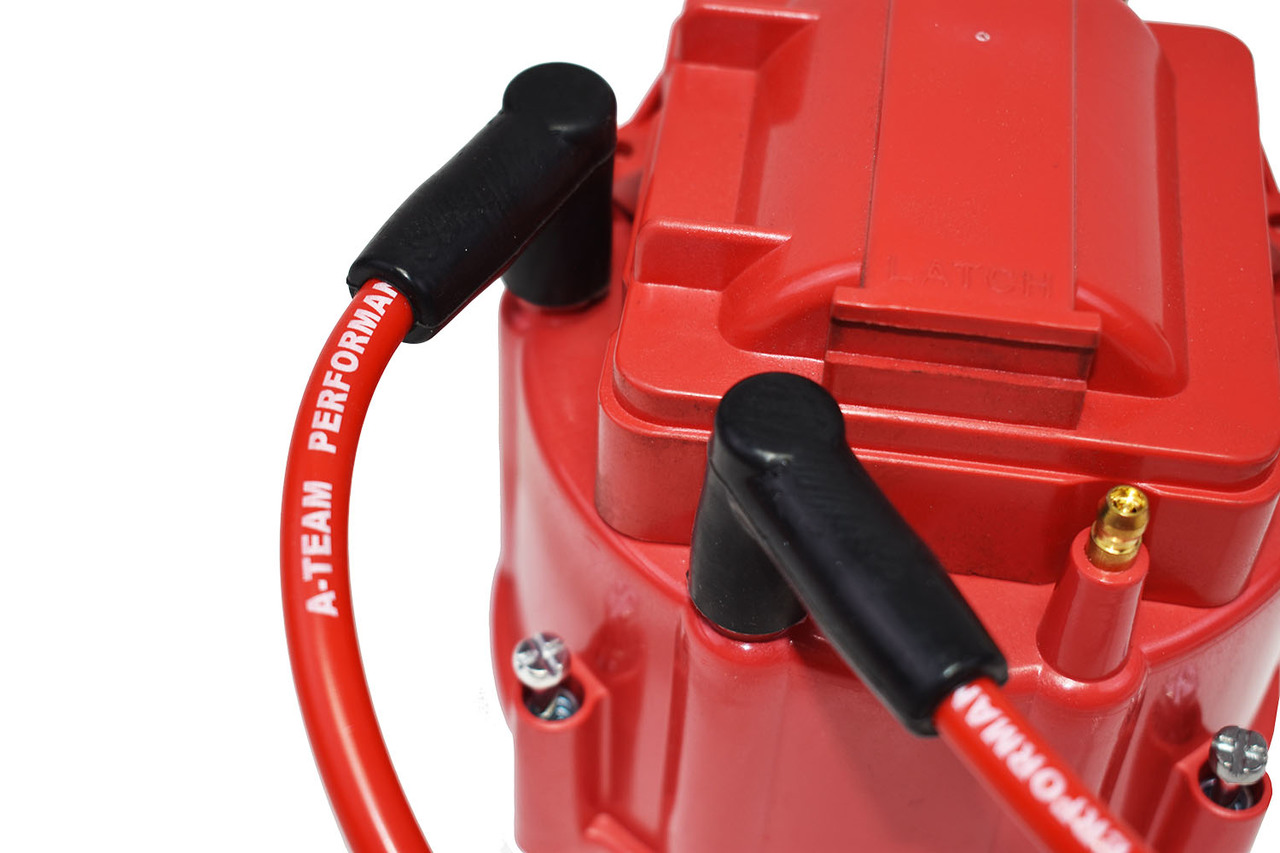 A-Team Performance Early GMC Chevy 6 Cylinder 194 216 235 Toyota Land Cruiser FJ40 FJ60 2F 3F 6 Cyl 8.0mm Red Silicone Spark Plug Wires