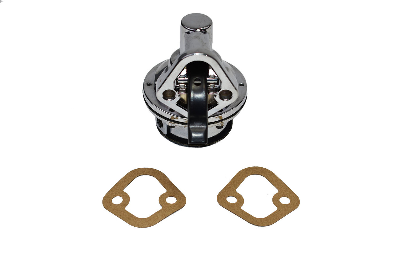 A-Team Performance 12-834 Small Block Two Valve Mechanical Fuel Pump for Chevy GMC 262 265 267 283 302 305 307 327 350 383 400 High Volume Chrome