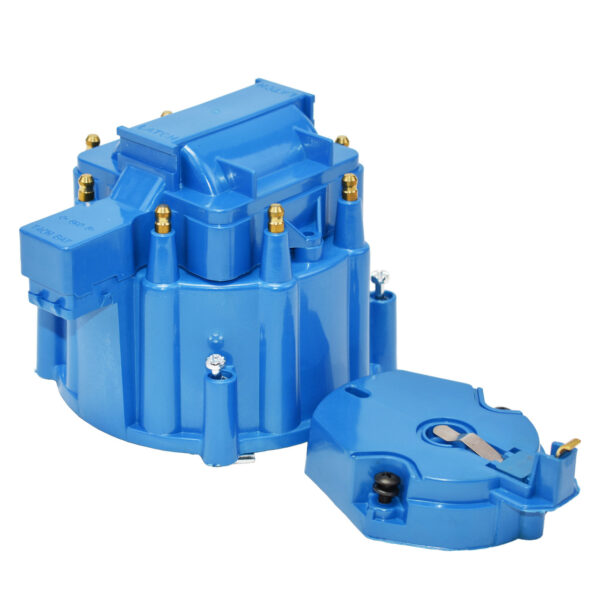 A-Team Performance HEI OEM Distributor Cap, Rotor & Coil Cover Kit 8-cylinder CHEVY GM FORD DODGE BLUE